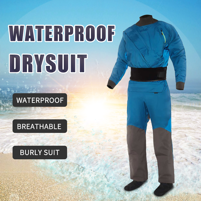Mens Front Entry Drysuit Paddling Dry Suit Waterproof Breathable Three-layer Fabric Designed for Adventures Kayak Rafting SUPMens Front Entry Drysuit Paddling Dry Suit Waterproof Breathable Three-layer Fabric Designed for Adventures Kayak Rafting SUP