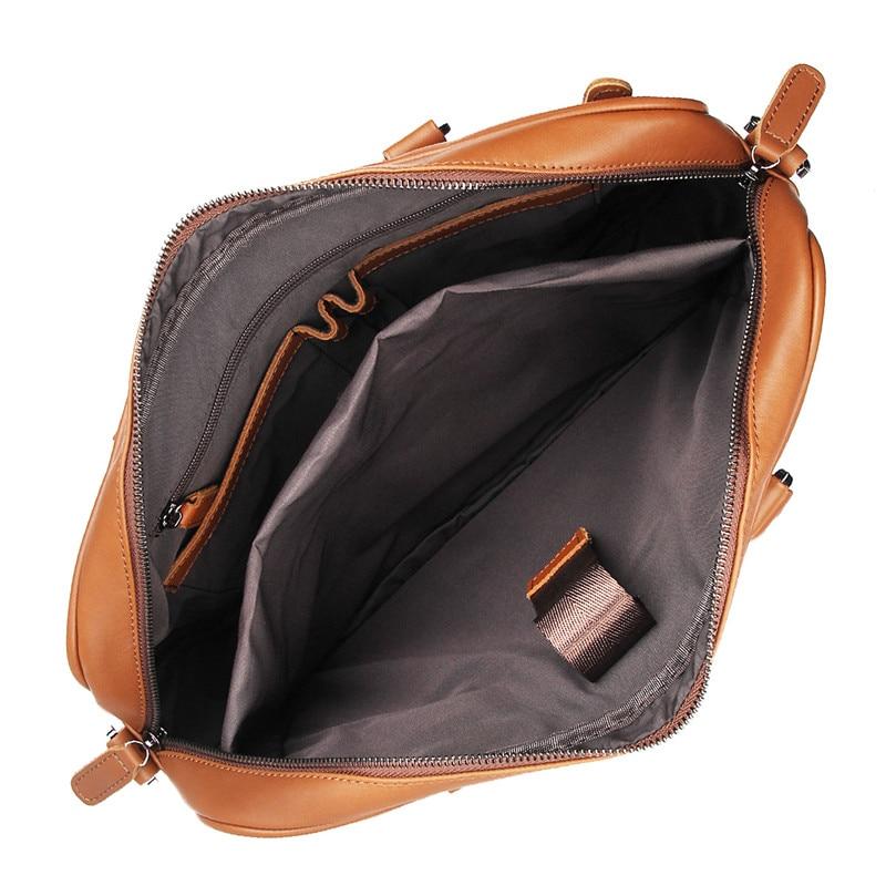 Nesitu Hohe Qualität Schwarz Braun Echtes Leder Männer Aktentasche 14 ''Laptop Portfolio Männer Messenger Bags Business Reisetasche M7349-in Aktentaschen aus Gepäck & Taschen bei  Gruppe 3