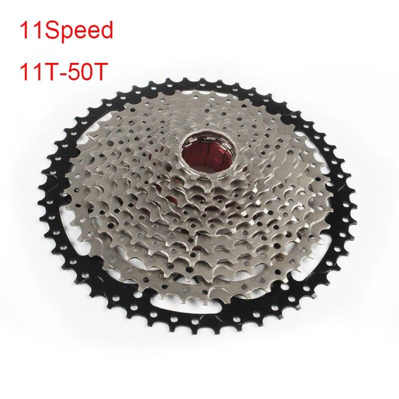 Haute qualité vélo roue libre 11 vitesses 11-50 T aluminium acier vtt vélo Cassette roue libre cyclisme partie