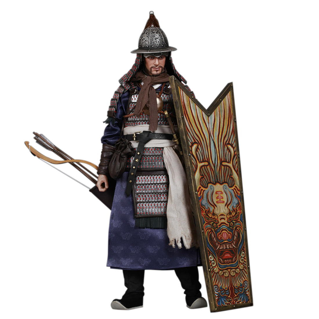 1/6 30cm High Ancient China Soldier Model Ming Dynasty Series Qi Army Sentry Action Model  Modelo De Soldado Hot Sale1/6 30cm High Ancient China Soldier Model Ming Dynasty Series Qi Army Sentry Action Model  Modelo De Soldado Hot Sale