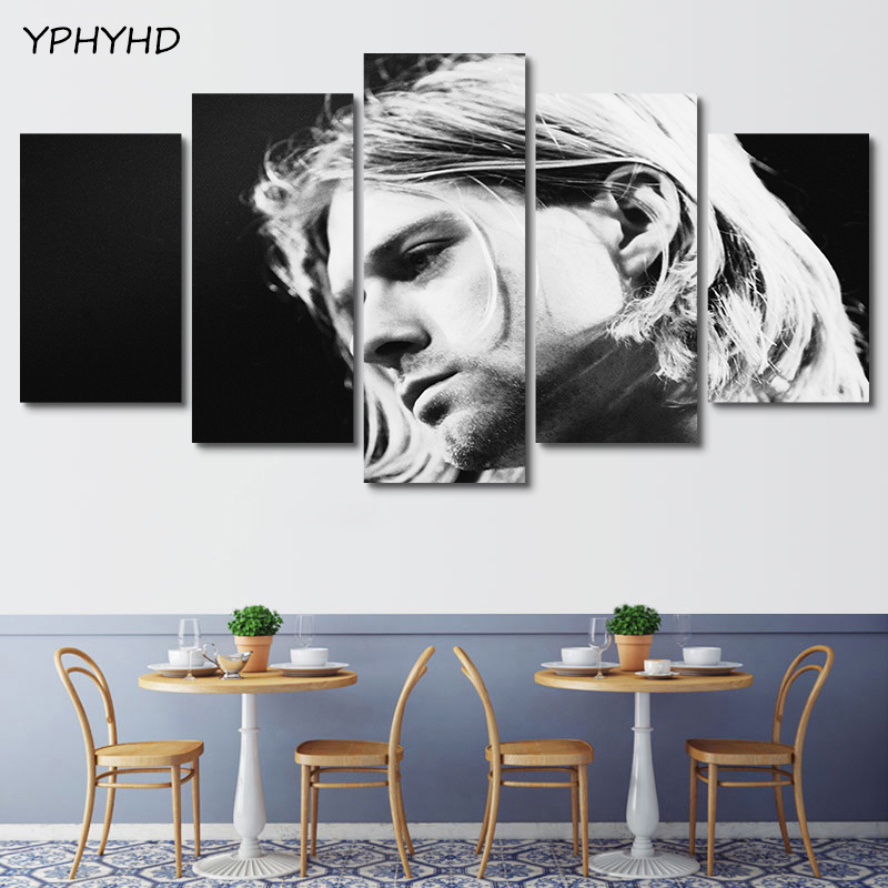Admirable Us 10 7 Yphyhd 5 Pieces Famous Rock Singer Kurt Cobain Poster Modern Home Wall Decor Canvas Picture Hd Print Painting On Canvas Artworks In Painting Frankydiablos Diy Chair Ideas Frankydiabloscom