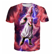 Newest Summer Tie Dye T-Shirts Women Men Harajuku Tee Shirt Anime Dragon Ball Z Majin Buu print t shirt Hipster 3D t shirt R2299