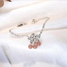 LUKENI New Fashion Girl 925 Sterling Silver Anklets Jewelry Lovers Latest Women Strawberry Crystal Bracelets Accessories Lady