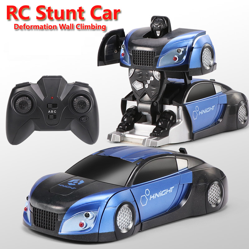 HY08 2In1 RC Car Wall Climbing Stunt Car Transformation Robots Remote Control Deformation Car RC Fighting Toys For Children Gift