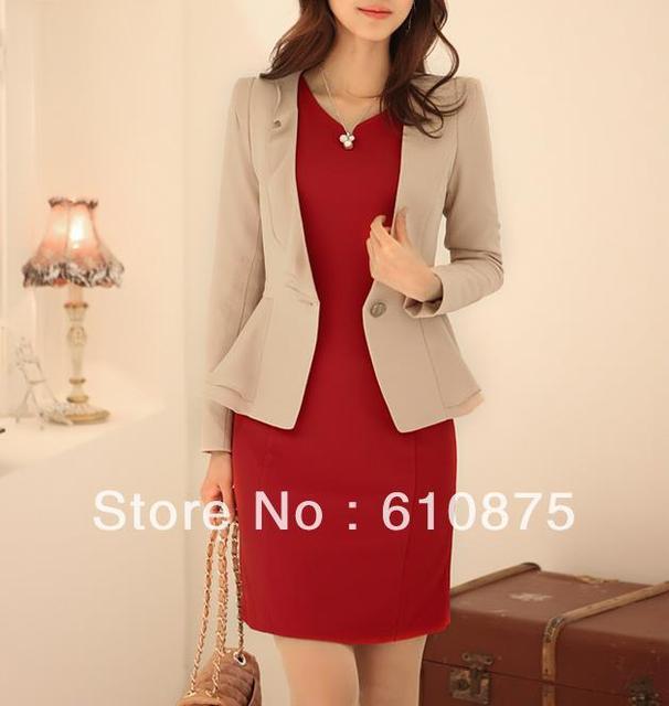 hot sale  OL autumn solid color laciness blazer coat,DY
