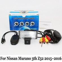 RCA AUX Проводной Или Беспроводной Камеры Для Nissan Murano 3-й Z52 2015 ~ 2016/HD Широкоугольный Объектив CCD Ночного Видения/Вид Сзади Автомобиля камера