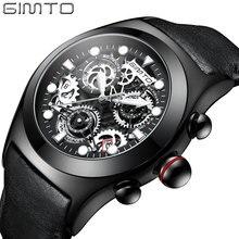 fc438e0486a Homens relógios de negócios calendário GIMTO criativo luxo esporte mecânico  à prova d  água Relogio