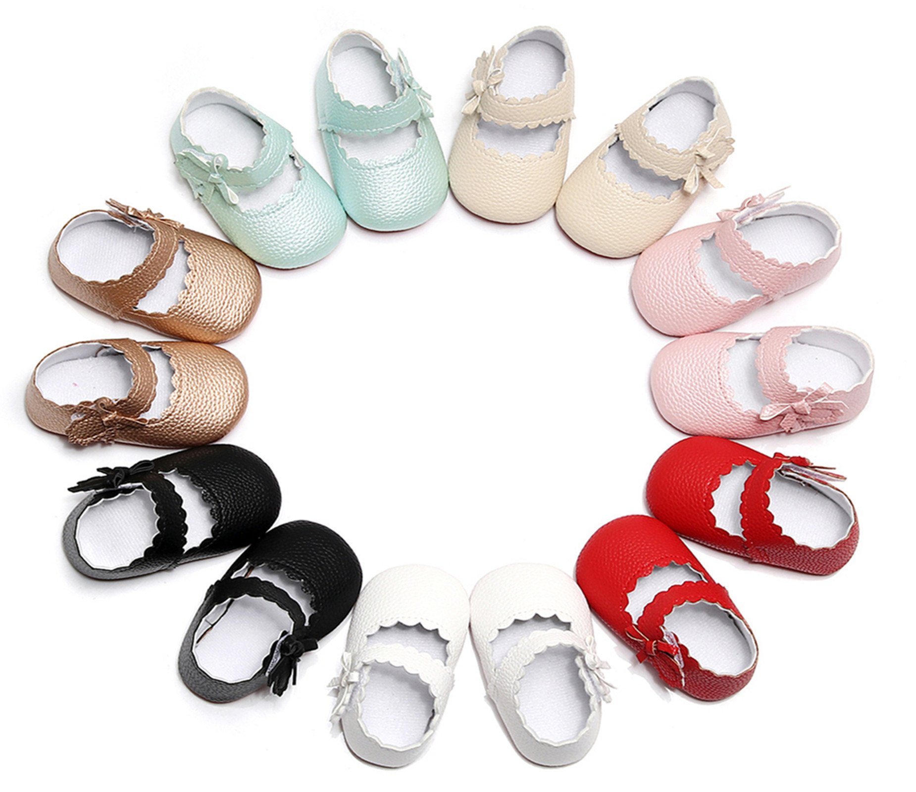 2018 New Arrival Handmade Baby Moccasins Cute Infant Toddler Girls Princess Shoes First Walkers