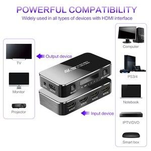 Image 3 - Przełącznik HDMI 4K 60HZ HDR HDMI 2.0 Splitter 4 Port HDMI przełącznik Dolby dźwięk 3.5mm jack łuku sterowanie ir dla PS3 PS4 projektor hdtv