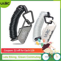 ULAC Mini Bike Lock 1200mm Fold Backpack Cycling Helmet Bicycle Cable Lock 3 Digit Combination Anti-theft Bike Bicycle Lock