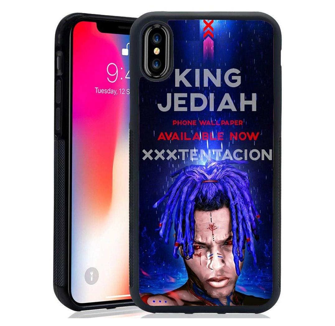 luxury tpu+Tempered Mirror shell Rap Singer XXXTentacion MC case For iPhone XS Max XR 8 7 7Plus