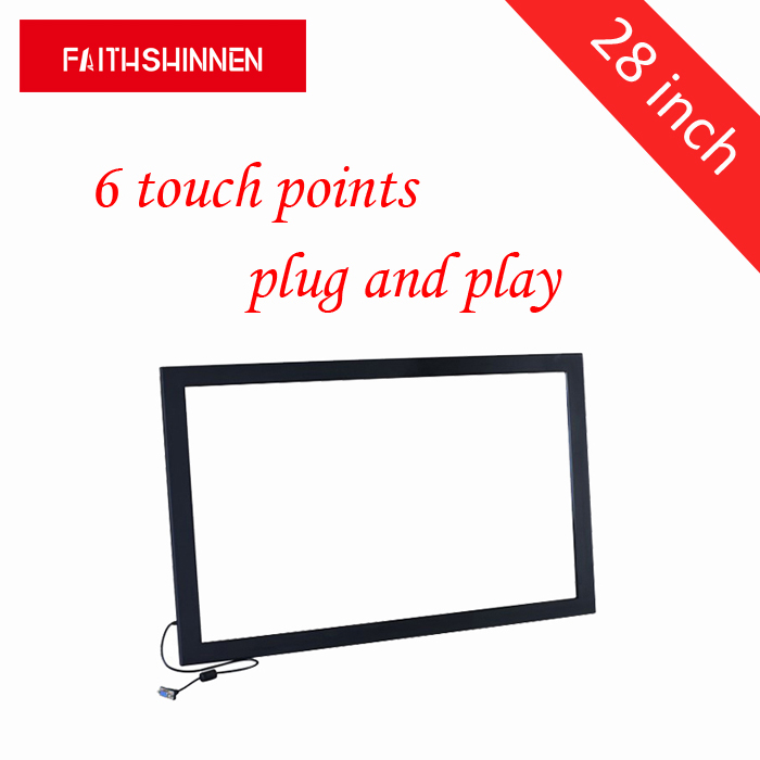 28 inch IR infrared touch screen frame 6 points overlay kit usb external touch screen multi touch without glass 32 inch high definition 2 points multi touch screen panel ir multi touch screen overlay for touch table kiosk etc