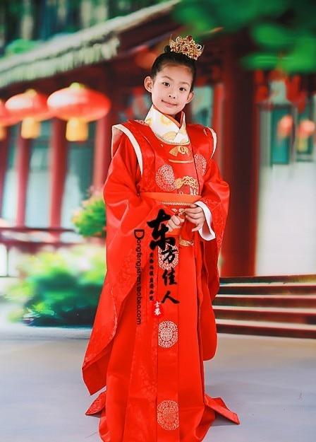 TV Play Legend of Great Tang Empress Wu Ze Tian Same Design  Prince Li Zhi Costume Red Emperor Costume Tang Hanfu