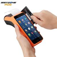 IssyzonePOS Android КПК чековый принтер 58 мм ручной POS терминал сенсорный экран КПК 1D/2D считыватель штрих-кода 4 г NFC камера