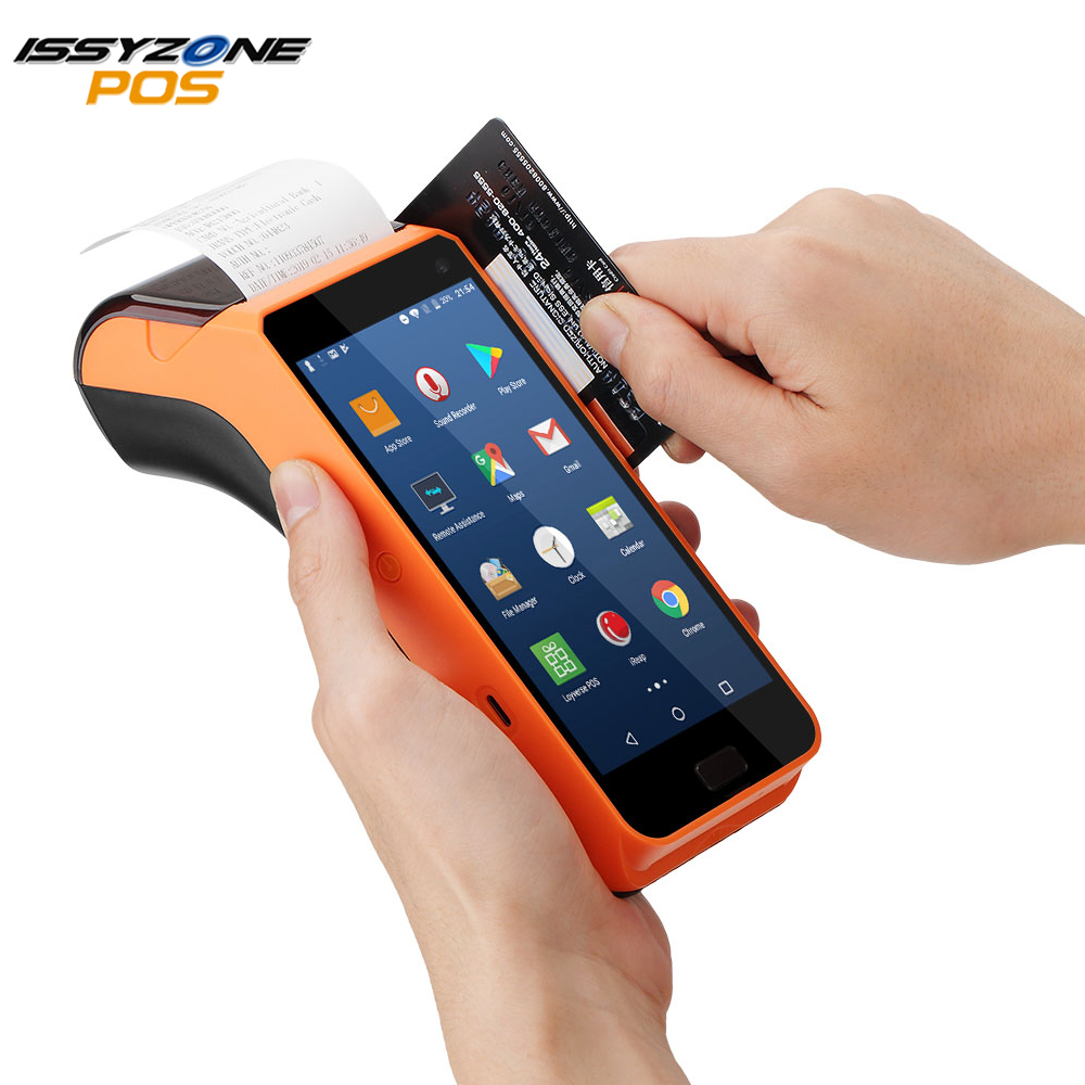 IssyzonePOS Android PDA Receipt Printer 58mm Handheld POS terminal Touch Screen PDA 1D/2D Bar code Reader  4G NFC CameraIssyzonePOS Android PDA Receipt Printer 58mm Handheld POS terminal Touch Screen PDA 1D/2D Bar code Reader  4G NFC Camera