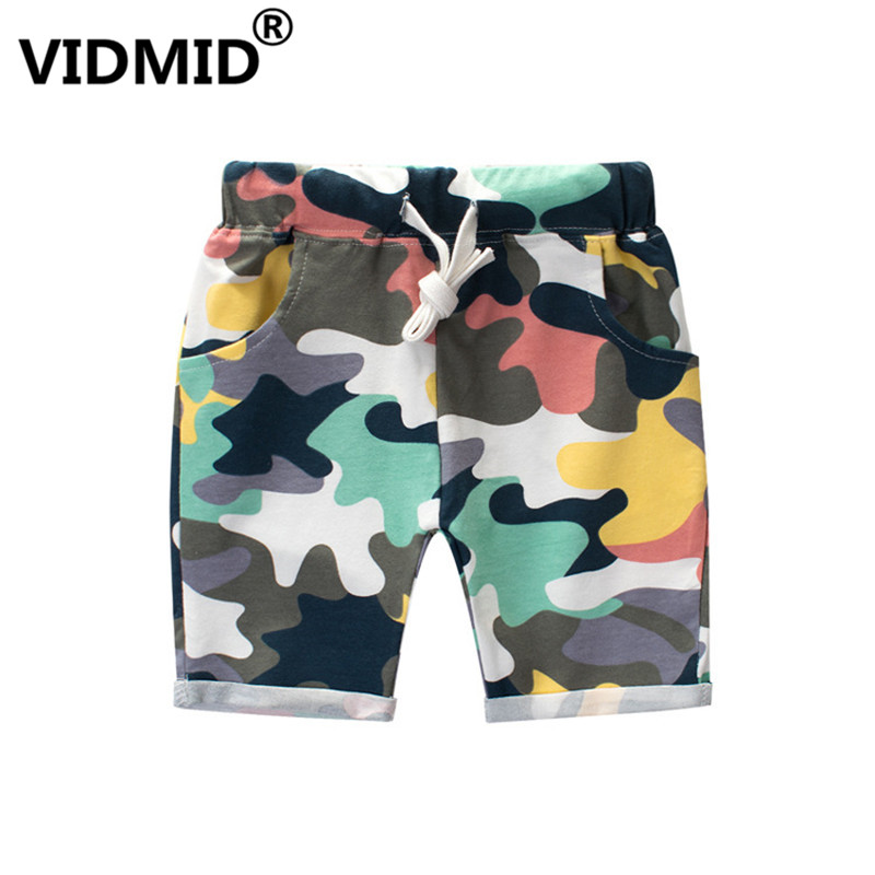 VIDMID Children Boys   Shorts   Printing Camouflage   shorts   Casual Straight Elastic Waist Kids   Shorts   For 2-8 Years trousers 4037 03