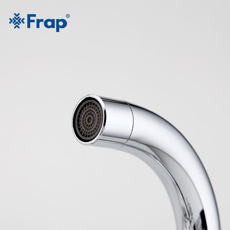 Image 3 - FRAP Silver Bathroom faucet Dual Handle Vessel Sink Mixer Tap Hot and cold separation switch F1319hot and coldsink mixer tapmixer tap -