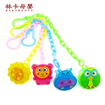 2016 New Pacifier Chain Baby Dummy Clip Holder Feeding Product Animal Cartoon Baby Pacifier Anti Lost Chain Free Shipping