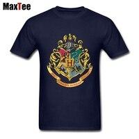 Hogwarts Alumni Magic School T Shirt Men Male Tailored Short Sleeve Fashion Custom 3XL Men S