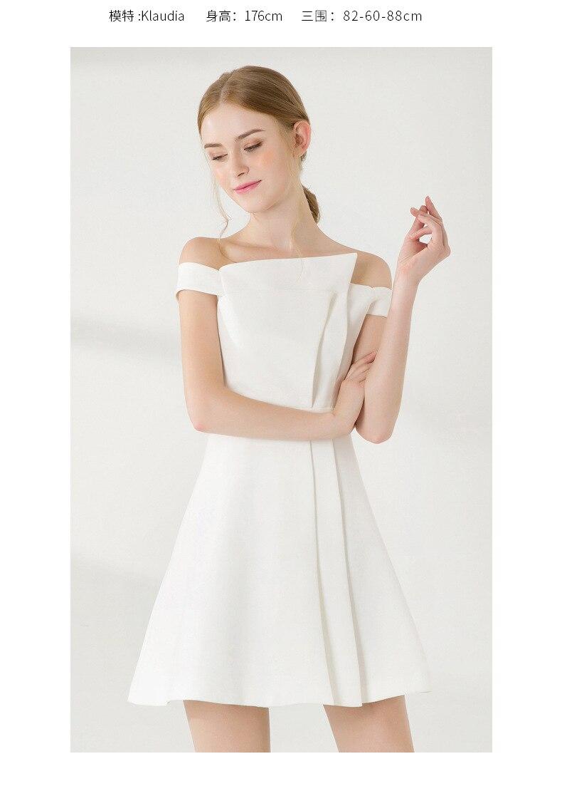 Robe Gaine La Parti D'été Femmes L'épaule Mini Sexy De Maxza Blanc Soirée Printemps Courtes Manches Automne Robes vmN08nwO