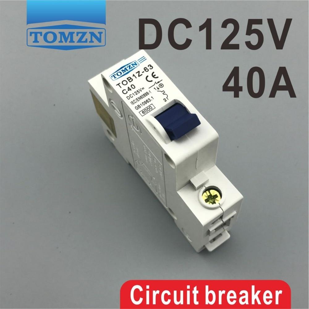 1P 40A DC 125V Circuit breaker MCB цена
