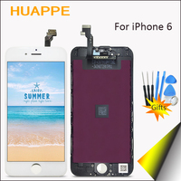 HUAPPE AAAA High Quality No Dead Pixel LCD For iPhone 6 Display Touch Screen Replacement With Digitizer 6 LCD Screen White Black