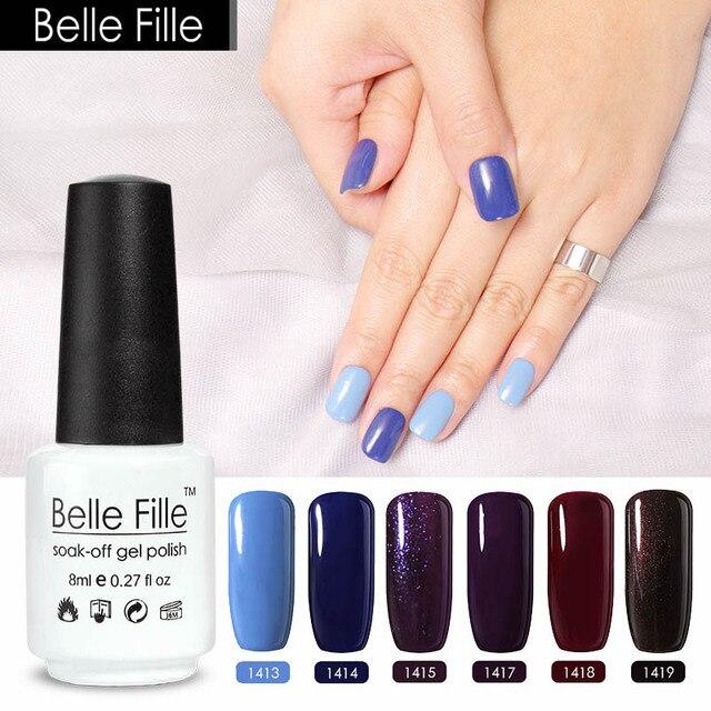 Belle Fille 8ml UV Gel Polish Led Gel Varnish Nail Art Salon Nail ...