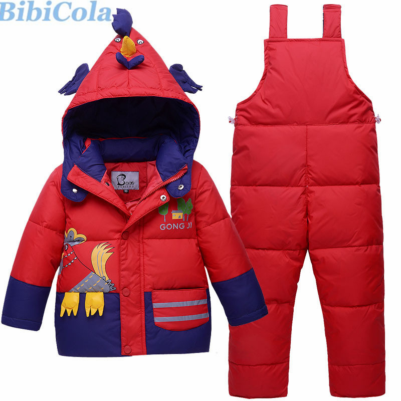 BibiCola Baby Boys Clothing Set Winter Bebe Clothes Infant  Hooded Down Coat Jacket+Pants Outfits 2pcs Toddle Kids Tracksuit Set children snowsuit winter clothing set down jacket down overalls pants baby girls outfits kids suit clothes for baby boys