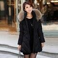 Mulheres gola de pele grosso casaco de neve desgaste senhora clothing nxh Parka casaco de algodão para baixo Parkas Jaqueta de Inverno Feminino fino mais tamanho