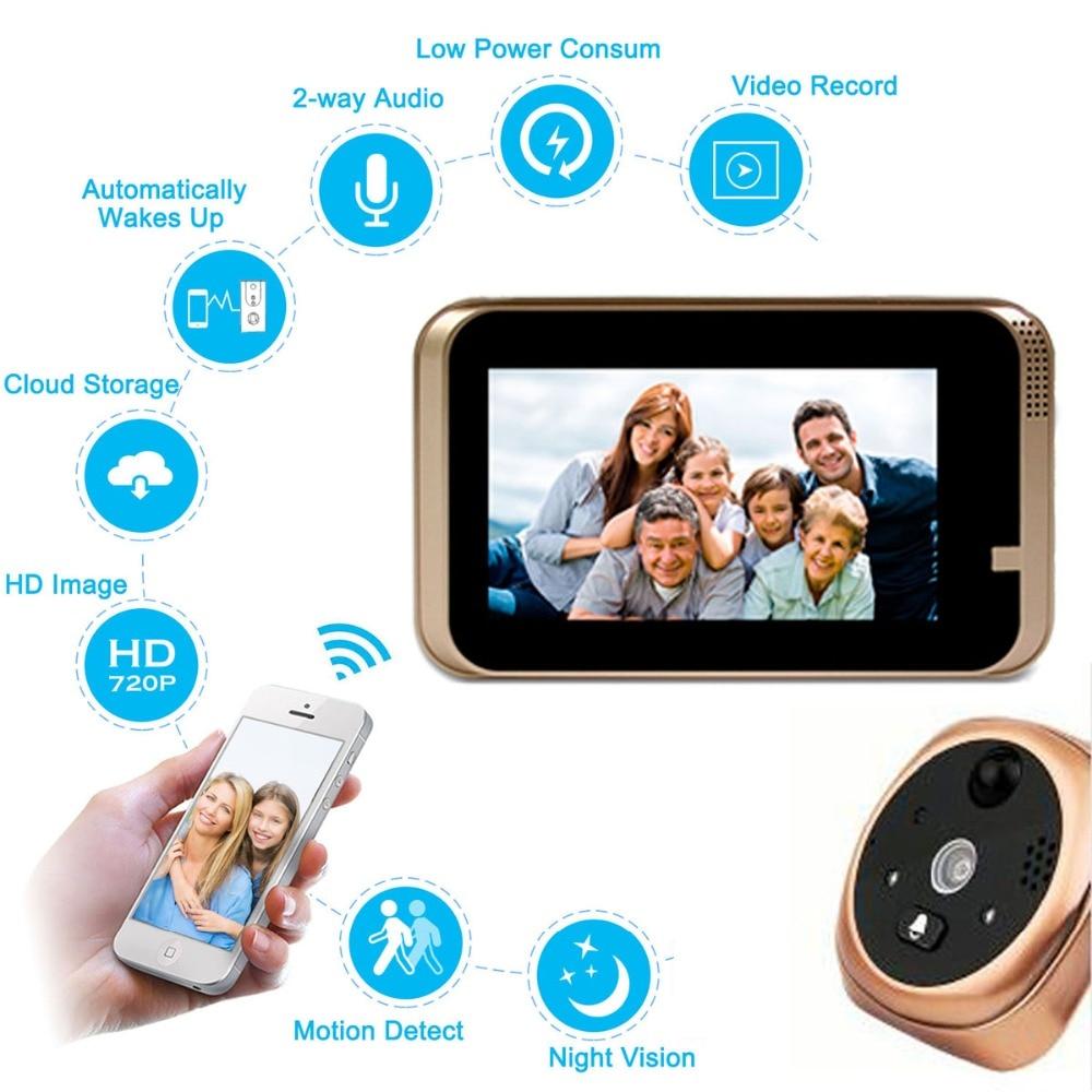 Intercomunicador de puerta de video POE visi/ón nocturna detecci/ón de movimient iOS Sensor 1//4 pulgada COMS Android apoyo