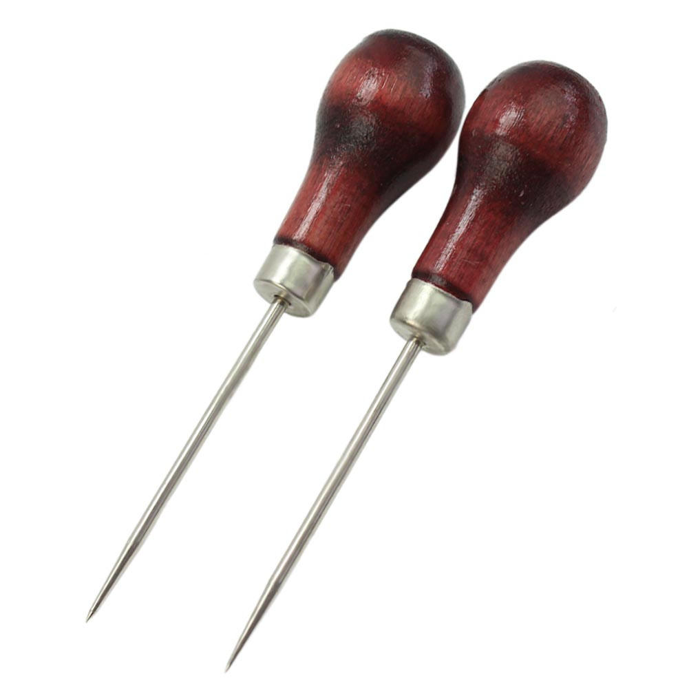 2pcs Awl Tool for Leather Craft Paper craft Cloth Pin Sewing Punch Hole Maker Stitching Marking Overstitch Home Supplies Tools marking tools