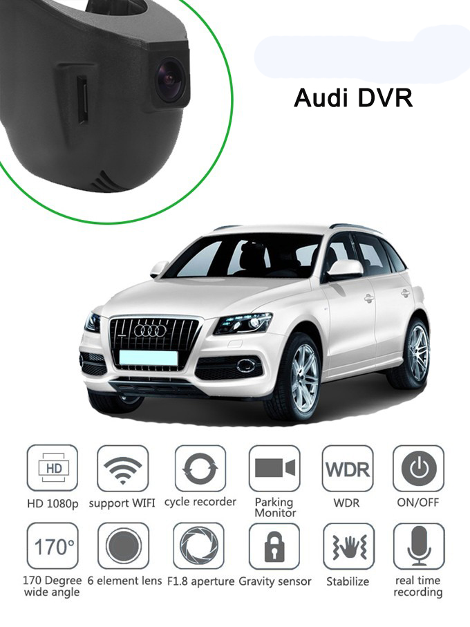 PLUSOBD HD DVR For Audi A4 A5 A6 A7 Q5 A8 Q7 Car DVR Camera Car Recorder Sony IMX322 6G Lens Novatek 96655 Night With OBDII junsun wifi car dvr camera novatek 96655 imx 322 full hd 1080p dashcam video recorder for old audi a1 a3 a4 a5 a6 a7 q3 q5 q7
