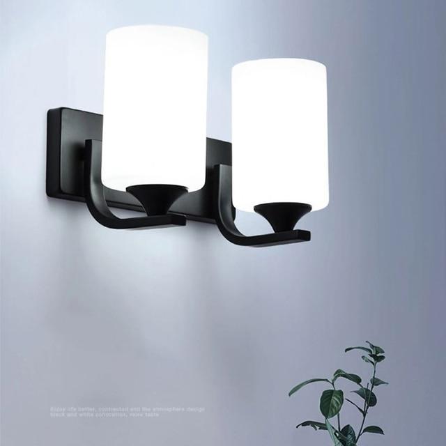 Modern LED Wall Lamp E27 110V 220V Bedside Lamp American Living Room Staircase  Wall Sconce Bracket