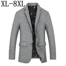 حجم 8XL 7XL 6XL 2019 جديد الرجال العلامة التجارية دعوى سترة معطف الربيع الخريف أزياء فضفاضة الرجال دعوى الأعمال Masculino الحلل