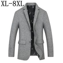 Size 8XL 7XL 6XL 2019 New Men Brand Suit Jacket Blazer Spring Autumn Fashion Loose Men Suit Business Masculino Blazers