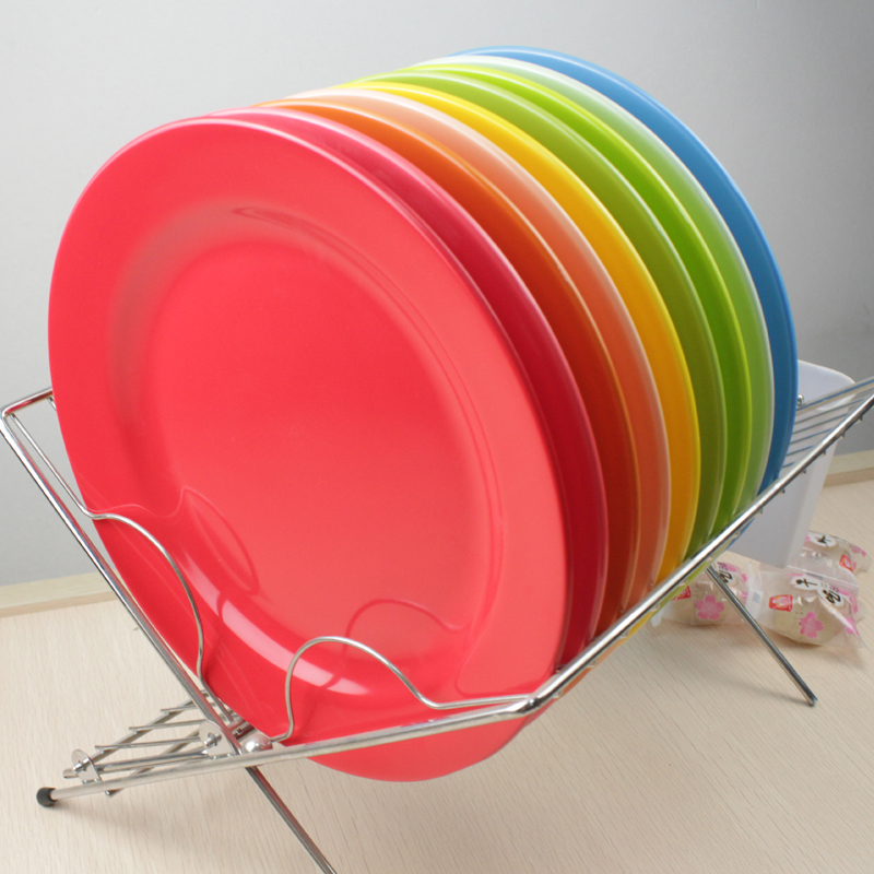 Food Plate Dinner Service 25cm Pigmented Dinner Plates Plastic Dish Round Plate Flat Dish Tableware Service Restaurant Dishes-in Dishes \u0026 Plates from Home ... & Food Plate Dinner Service 25cm Pigmented Dinner Plates Plastic Dish ...