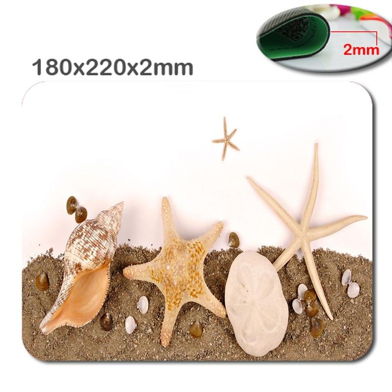 4PCs Beach sand surf starfish DIY Printing Pattern Soft Silicone Desktop Mousepads Optical Notebook Computer Mouse Mat