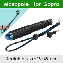 Cheapest prices Aluminum Extendable Pole Telescoping Handheld Monopod with Tripod Mount Adapter for GoPro Hero 1 2 3 3+ 4 SJ4000 xiaomi yi