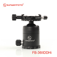 SUNWAYFOTO FB-36IIDDHi Tripod head for DSLR Camera Tripode Ballhead  Professional Aluminum Monopod Panoramic Tripod Ball Head