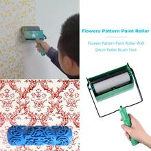 5 inch Flowers Pattern Paint Roller Wall Decoration Art Brush Tool for Home Printed Single/Double Colors Type