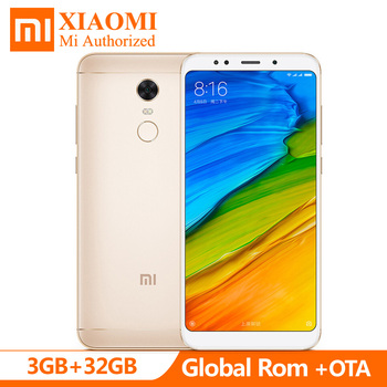 "Global Rom 5.99"" Xiaomi Redmi 5 Plus 3GB RAM 32GB ROM Full 18:9 Screen Snapdragon 625 MIUI9  4G LTE Smartphone 12MP 4000mAh"