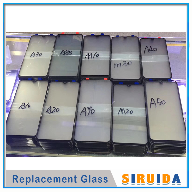 Free Shipping 60pcs Outer glass for Samsung galaxy A30 A10 A20 A40 A50 A70 A80 A90