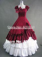 Красный и Белый Милая Хлопок Викторианской Платье/Бальные Платья