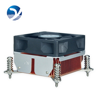 Computer components hardware radiator 2U Active Solution Dual Ball Bearing heat sink High quality copper radiator F5 10