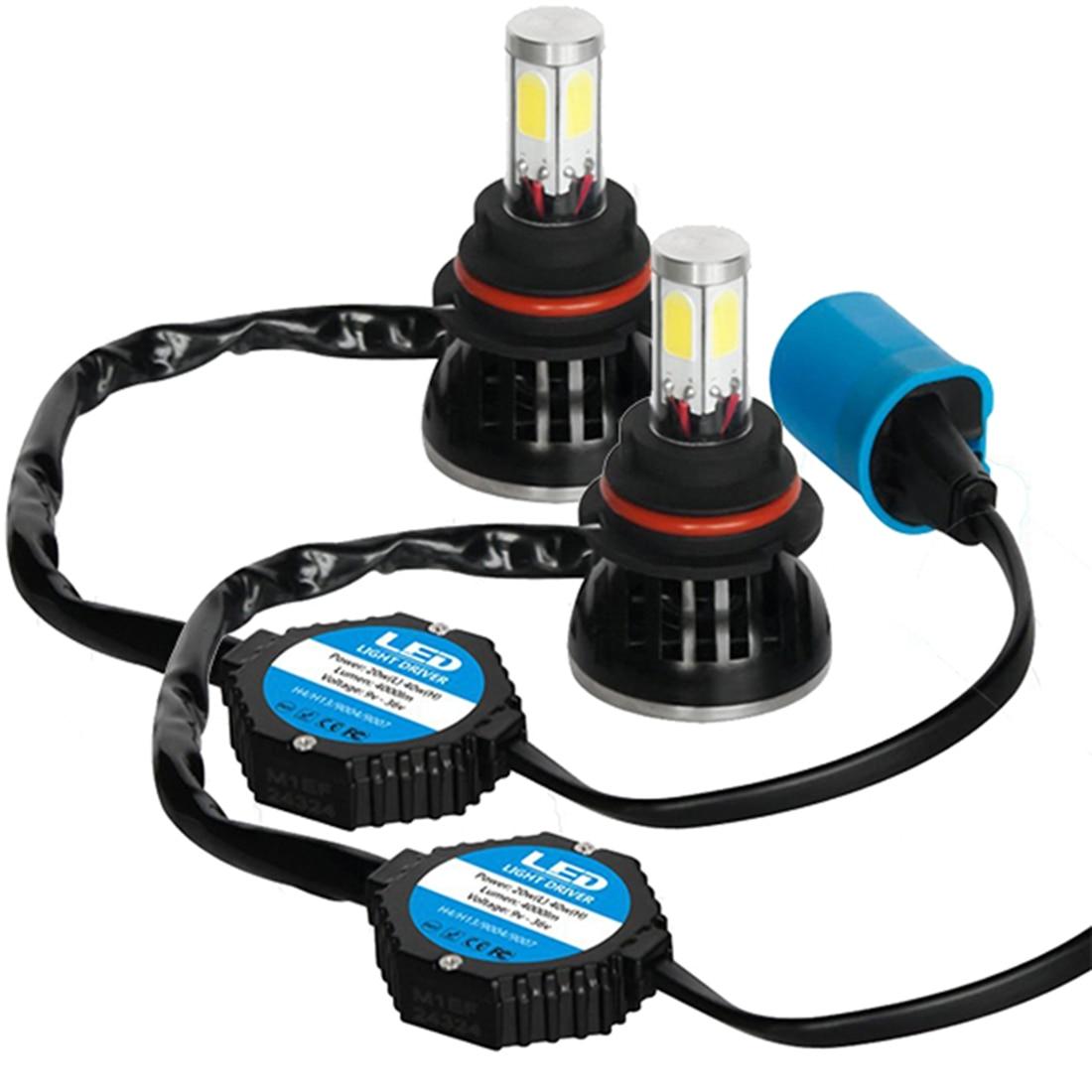 Tonewan Brand New 2pcs 2400LM H3 LED Headlight Bulbs All in one Conversion Kit Cool White Light