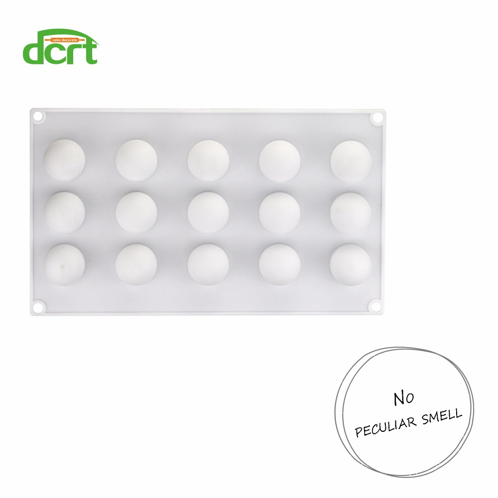 15 Holes Ball Shaped Silicone Cake Mold For Truffles Chocolate Desserts Baking Pan Cakes Decorating Tools Kitchen Accessories in Cake Molds from Home Garden