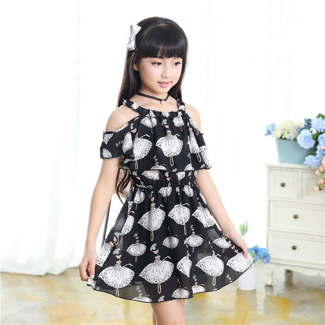 82d91b62980d Children's clothing 2019 summer new chiffon suspenders dress 3 4 5 6 7 8 9  10 11 12 years old baby girl clothes girls dress