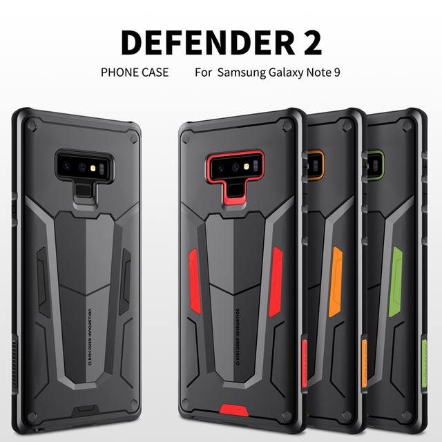 huge selection of d216c 94563 US $9.89 20% OFF|sFor Samsung S9 Plus Case Samsung Galaxy Note 9 Note 8  Defender 2 Back Cover Tough Capas NILLKIN Original S8 Plus Back Cover-in  Flip ...