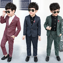 Baby Boys Suits Costume for Boy 2019 Autumn Single Breasted Kids Blazer