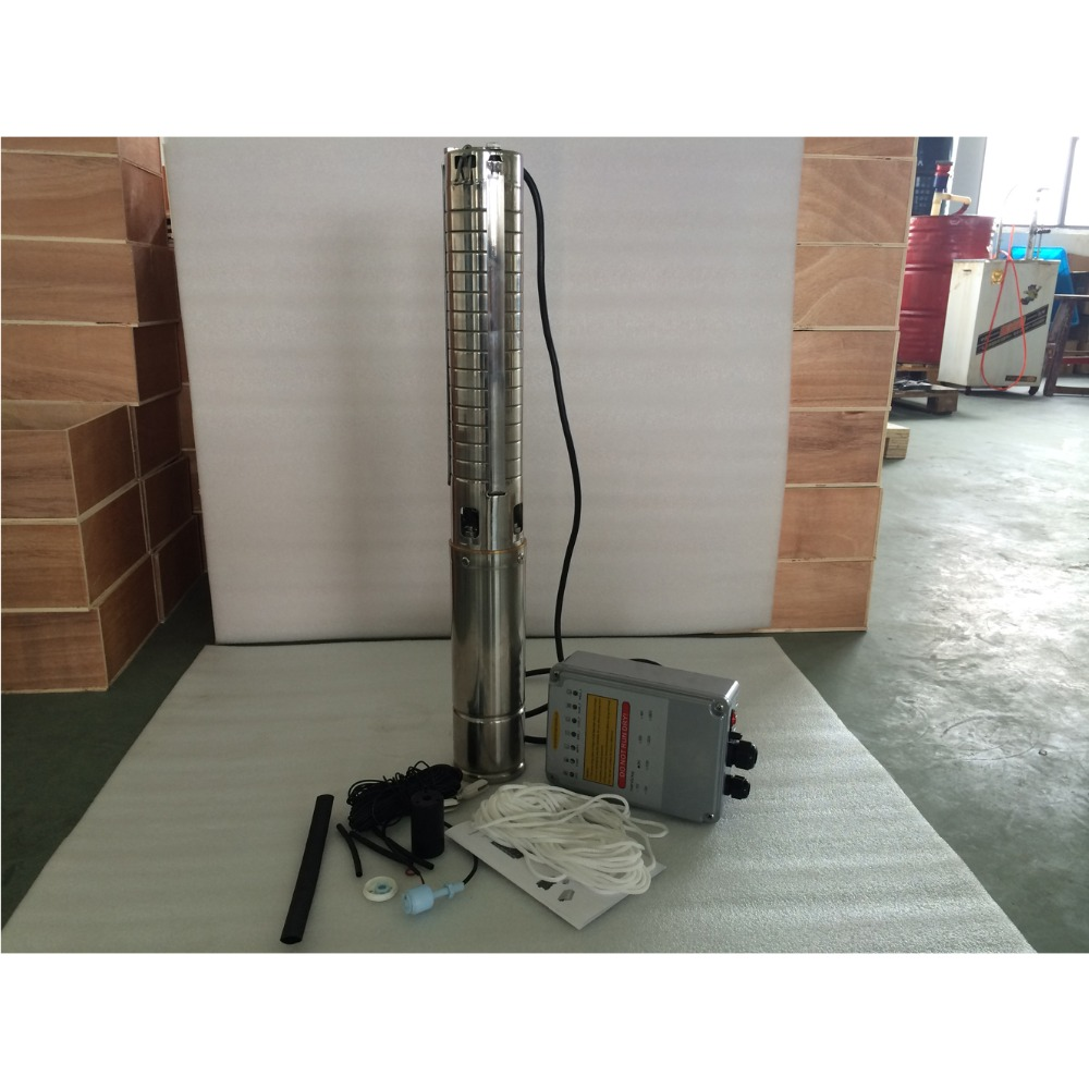 4 Inch DC72V 1300W High Quality Solar Water Pump With Brushless Motor MPPT Controller 3 Years